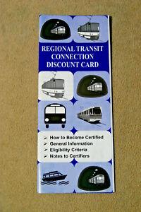 Regional Transit Connection Discount Card Brochure - June, 2000