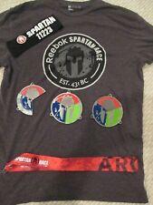 Spartan Race Trifecta Medal Beast Super Sprint Medals Wedges ~ Medium Shirt Mens