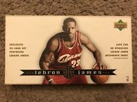 LeBRON JAMES 2003 Upper Deck Exclusive 32 Rookie Cards Box Set - Box Was Opened