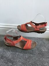 Moshulu Red Sandals Size 5 (38) VGC holiday