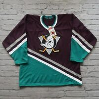 NEW Vintage 90s Anaheim Mighty Ducks Hockey Jersey by CCM Made in USA