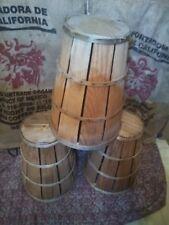 Primitive Vintage Wooden Slat Bushel Basket Farmhouse Decor Good condition