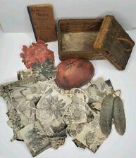 200+ Antique Victorian Peter Henderson 1890s Cut Scraps Wicker Basket Book