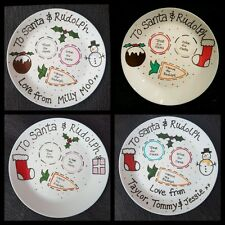 Personalised Christmas Eve Plate - Santa & Rudolph