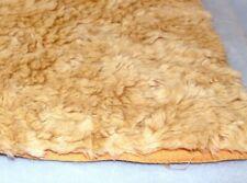 """Alpaca-Silk Mohair Blend Golden-Tan Dense Distressed5/8"""" Pile Fat 1/3 Yd."""
