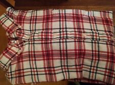 Men's Red and White Flannel Shirt