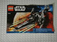 2011 Lego Star Wars 7915 Imperial V-wing Starfighter Instruction Booklet Only