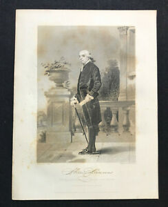 steel engraving Laurens Henry merchant planter South Carolina American Revolutio