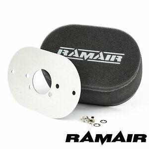 RAMAIR Carb Luftfilter mit Grundplatte Su HIF7 1.875in 65mm Bolzen Auf