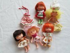 VTG 1981 Blue Box Shortcake dolls + Strawberry Shortcake lot