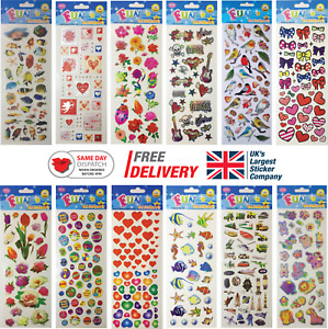 Fun Stickers Children Birthday Party Loot Bag Fillers Kids Decorating Pack G