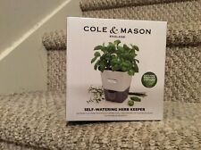 Cole And Mason Self Watering Indoor Herb Keeper Garden Planter Pot New
