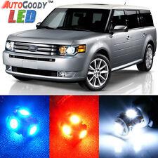 10 x Premium Xenon White LED Lights Interior Package Upgrade for Ford Flex