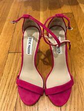 fb7c4b07530 Steve Madden Women s Magenta Fuchsia Pink Ankle Strap Heels Sandal Size ...