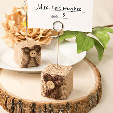 10 x Rustic Hessian Burlap Design Place Card Holder Wedding Event Party Table SF