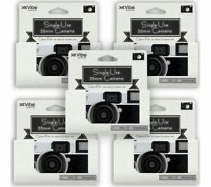 Vibe Single Use 36 Exposure Camera - 5 Pack Photography Wedding Birthday