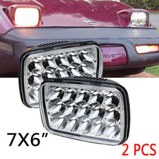 2X LED 7''X6'' LED Headlight Replacement For 1984-1996 Chevy Corvette C2 C3