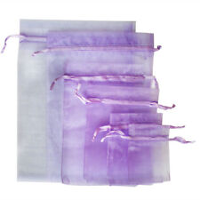 25/100X Organza Gift Candy Bags Jewellery Pouches Xmas Wedding Party Favor Decor