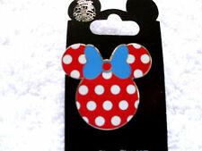 Disney * MINNIE - POLKA DOTS & BLUE BOW - EARS ICON * New on Card Trading Pin