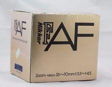 Empty Box for Nikon AF zoom  35-70mm f3.3-4.5  Nikkor  lens