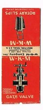 1940s W-K-M Rotary Slips Oil Field Equipment Houston Texas Matchcover