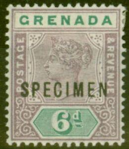 Grenada 1895 6d Mauve & Green Specimen SG53s Fine & Fresh Mtd Mint
