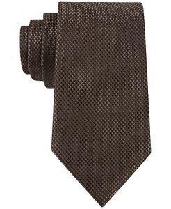 New MICHAEL KORS Silk Sorento Solid Brown Tie Free Shipping
