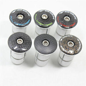 """1Set Bike Carbon Headset Stem Top Cap+Expander Plug/Compressor for 1-1/8"""" Fork"""