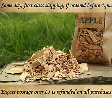 APPLE Wood for Smoking , BBQ Smoking Wood Chips 5 LITRE NOW BUY 2 GET 3 OFFER ON