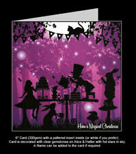 Once Upon a Twilight 'Alice In Wonderland, Mad Hatters Tea Party' Christmas Card