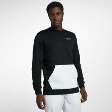 Men's Nike Air Jordan Fleece Crew Pullover Sweatshirt AA1457 010 NWT Size SMALL