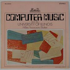 COMPUTER MUSIC: University of Illinois, Hiller, Isaacson ELECTRONIC Tape LP
