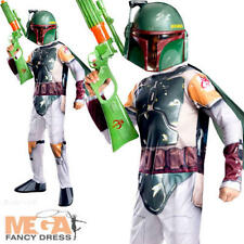 Star Wars Boba Fett Kids Boys Licensed Fancy Dress Costume Film Space 3-10 Yrs 3 - 4 Years 610701