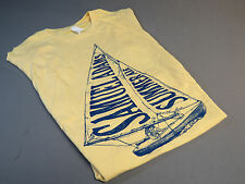 Samuel Adams Summer Ale Womens M T Shirt Tee top beer bar draft yellow med New