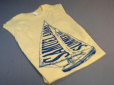 Samuel Adams Summer Ale Womens M T Shirt Tee top beer bar draft yellow med New