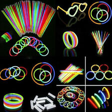 50Pcs Glow Sticks Bracelets Fluorescent Neon Party Vocal Concert Light Stick FS