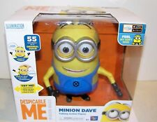 Minions Despicable Me Talking Dave Action Figure 55 Sayings New In Box Working