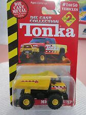2000 Hasbro Tonka Diecast Yellow Mighty Dump Truck #9807 (NOC)