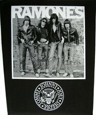 Xlg Ramones Woven Sew On Back Patch - Group & Classic Seal Battle Jacket Patch