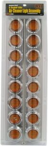 Peterbilt 379/377 Air Cleaner  RoadPro Model # RPSL28LED Dual 8 LED CHROME Asmbl