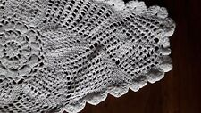 ANCIEN NAPPERON coton blanc au crochet tricot@OLD mat