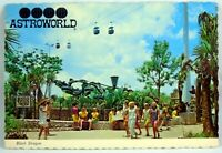 1970's AstroWorld Houston Texas Theme Park Black Dragon Postcards w/ stamp