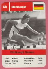 German Trade Card 1968 Olympics Decathlon Gold Medal Winner Ingrid Becker