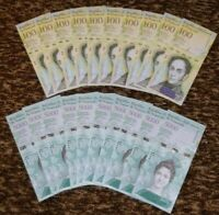 VENEZUELA 10 X 100000 / 10 X 5000 BOLIVARES P-NEW UNC LOT 20 PCS Total