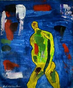Keith Vaughan British Modernist Oil on Canvas