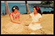 c1953 Nani Li'i photo by Howell women Lauhala Weaving Hawaii postcard
