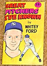 WHITEY FORD GREAT PITCHERS I'VE KNOWN CARVEL MINI GIVEAWAY PROMO RARE 1976 VF-