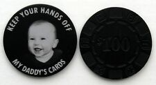Metal Poker Chip Theme Card Guard - Free 1-sided Custom Photo Engraving