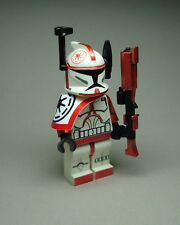 Lego Star Wars Clone Trooper Commander Arc Red Fox min figure custom