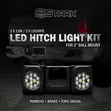 "LED Tow Hitch Light Running Dual Brake Signal Function Truck SUV 2"" Receiver A"